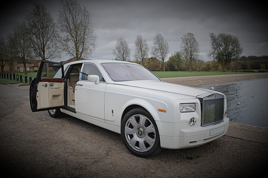 White Rolls Royce Phantom Hire