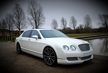White Bentley Flying Spur Hire