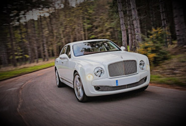 White Bentley Mulsanne Hire