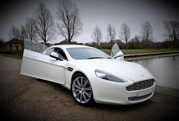 White Aston Martin Rapide Hire
