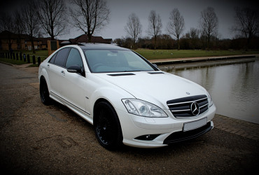 White Mercedes S Class Hire