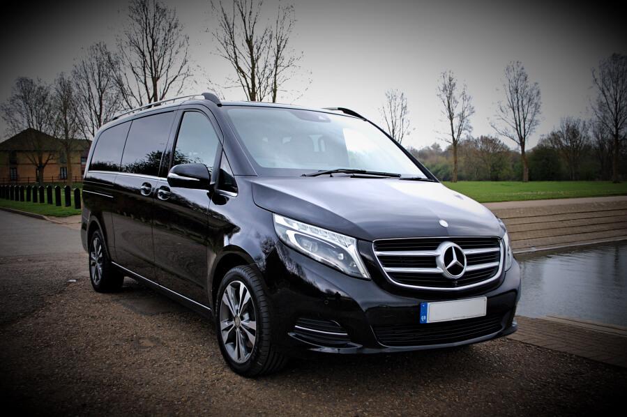 Black Mercedes V Class Hire