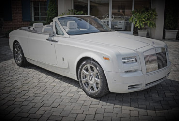 White Rolls Royce Drop Head Hire