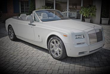 White Rolls Royce Drop Head Hire