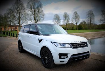 white range rover sport hire
