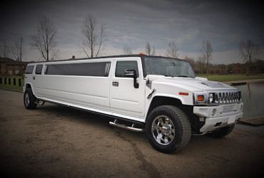 white hummer limo wedding car hire leicester
